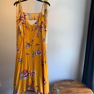 Large flower maxi dress - target - like new